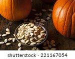 Roasted Salty Pumpkin Seeds...