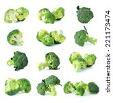broccoli vegetable isolated on... | Shutterstock . vector #221173474