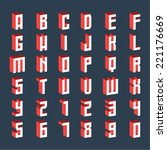 three dimensional vector... | Shutterstock .eps vector #221176669