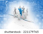 3d person icon leadership and... | Shutterstock . vector #221179765