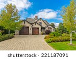custom built luxury house with... | Shutterstock . vector #221187091