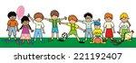happy kids  group  vector...   Shutterstock .eps vector #221192407