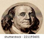 portrait of benjamin franklin  | Shutterstock . vector #221193601
