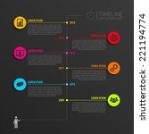 timeline infographic elements.... | Shutterstock .eps vector #221194774