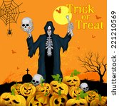 vector illustration of skeleton ... | Shutterstock .eps vector #221210569