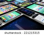 mobility concept  render of a...   Shutterstock . vector #221215315
