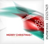 red color christmas blurred... | Shutterstock . vector #221217625