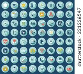 set of flat icons with shadow... | Shutterstock .eps vector #221226547