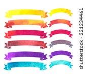 vector watercolor colorful... | Shutterstock .eps vector #221234461