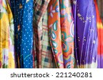 colorful pattern of umbrellas | Shutterstock . vector #221240281