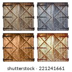 set of different colors old... | Shutterstock . vector #221241661