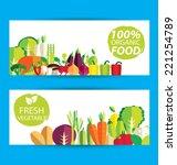 vegetables vector illustration | Shutterstock .eps vector #221254789