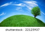 earth globe with tree | Shutterstock . vector #22125937