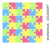 vector puzzle background in... | Shutterstock .eps vector #221263297