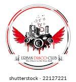 vector urban style discoteque... | Shutterstock .eps vector #22127221