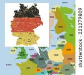 original map of europe and... | Shutterstock .eps vector #221279809