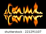 fire abstract and flames shapes ...   Shutterstock . vector #221291107