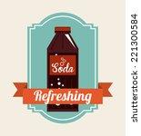 soda graphic design   vector... | Shutterstock .eps vector #221300584