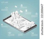 city app | Shutterstock .eps vector #221300647