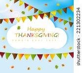 thanksgiving card  | Shutterstock .eps vector #221302234