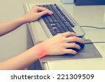 wrist pain from working with... | Shutterstock . vector #221309509