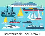 super set of water carriage and ... | Shutterstock .eps vector #221309671