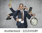 multipurpose businessman | Shutterstock . vector #221314189
