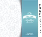wedding invitation card... | Shutterstock .eps vector #221315791