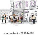 series of the streets with... | Shutterstock .eps vector #221316235