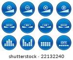 gadget icons set. white   dark... | Shutterstock . vector #22132240