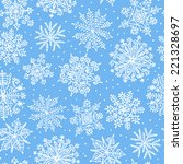 hand drawn snowflakes. seamless ... | Shutterstock .eps vector #221328697
