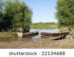 old boat on vistula river | Shutterstock . vector #22134688