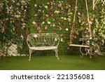 Wicker Couch In A Garden