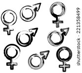 sign men and women in four... | Shutterstock .eps vector #221358499