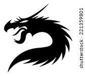 vector sign. dragon. | Shutterstock .eps vector #221359801