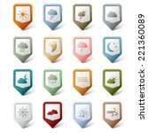 colorful set pointers for... | Shutterstock .eps vector #221360089
