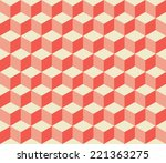 seamless pattern from red cubes | Shutterstock .eps vector #221363275