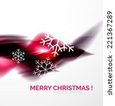 purple color christmas blurred... | Shutterstock .eps vector #221367289