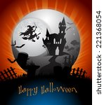 halloween card | Shutterstock . vector #221368054