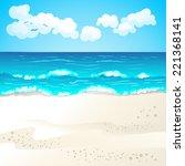 summer beach | Shutterstock . vector #221368141