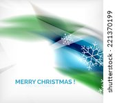 blue color christmas blurred... | Shutterstock .eps vector #221370199