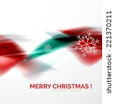 red color christmas blurred... | Shutterstock .eps vector #221370211