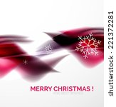 purple color christmas blurred... | Shutterstock . vector #221372281