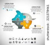 vector illustration of business ... | Shutterstock .eps vector #221378461