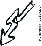 doodle arrow | Shutterstock .eps vector #221382937