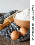 flour for bake | Shutterstock . vector #221382991