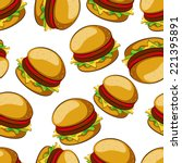 Hamburger Seamless Pattern...