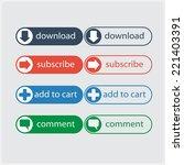 call action flat button  high...   Shutterstock .eps vector #221403391