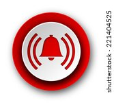 alarm red modern web icon on... | Shutterstock . vector #221404525