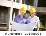 construction manager and... | Shutterstock . vector #221405011
